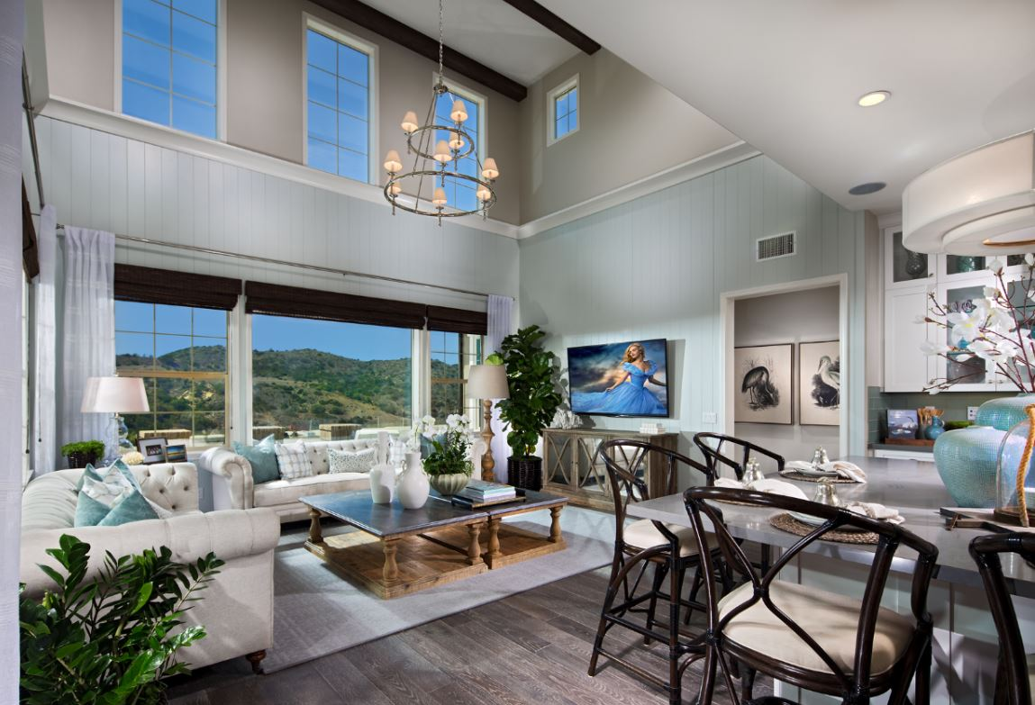 Beautiful family room at Alondra by Shea Homes